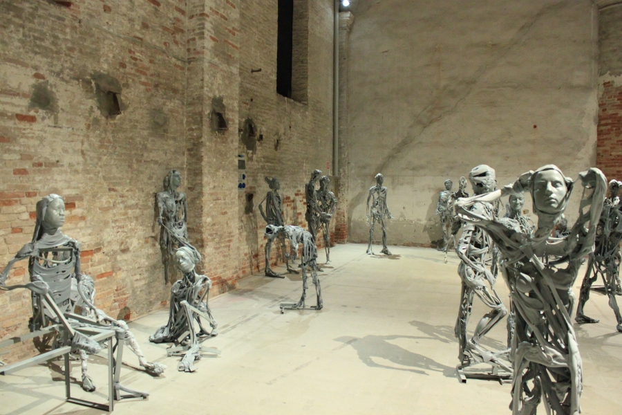 Sculptures by Pawel Althamer